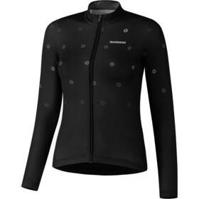 Shimano Kaede Printed Maglia jersey a maniche lunghe Donna, nero